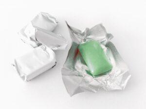 緑色のガム