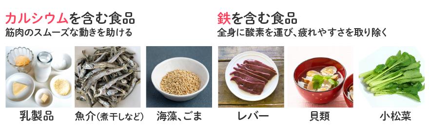 カルシウムと鉄を含む食品