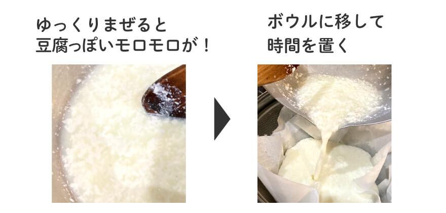 カテージチーズづくり3